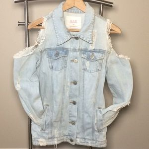 Urban Basics distressed long sleeve jean jacket